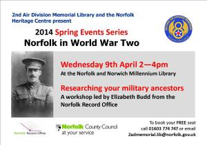 Military Ancestors workshop poster