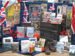 WW1 Book Display