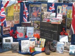 WW1 Book Display