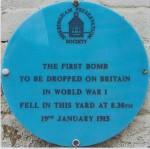 ww1 blue plaque Sheringham