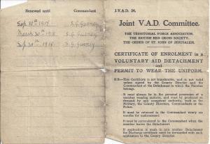 Dorothy's certificate