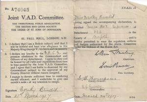 Dorothy's id card