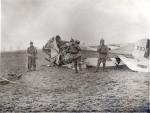 The wreckage of Major Glen's plane