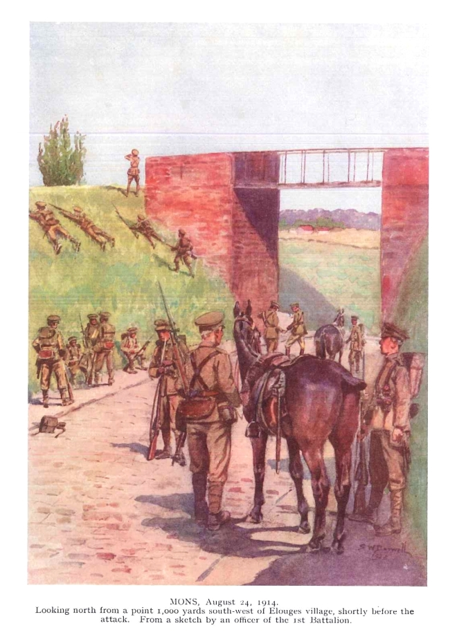 From a sketch by an officer of the 1st Battalion