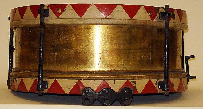 A Turkish drum captured by the 2nd Battalion, Norfolk Regiment in Mesopotamia