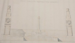 Lutyens's proposed memorial for Yarmouth (NRO, Y/TC 90/47)