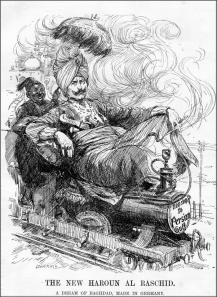 The New Haroun Al Raschid (from Punch, January 25, 1911)