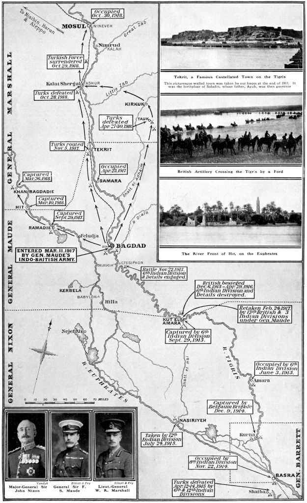 An overview of the Mesopotamian Campaign as published in the Sphere 19th April 1919