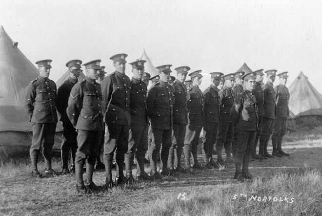 Men of the 5th Battalion on parade