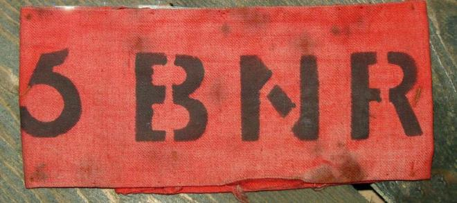 Armband for a new recruit to the 5th Battalion