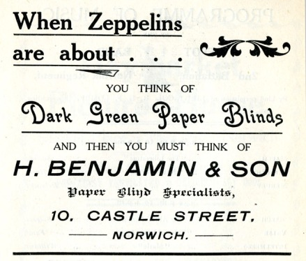 Advert for blackout material