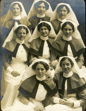 Group of nurses from the War hospital
