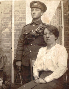 Tpr Harry Alder with his sister. Photo courtesy of the Berkshire Yeomanry Museum.