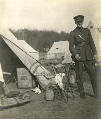 Geoffrey Colman during WW1 from a family archive of images related to the Norwich mustard firm of Colmans.
