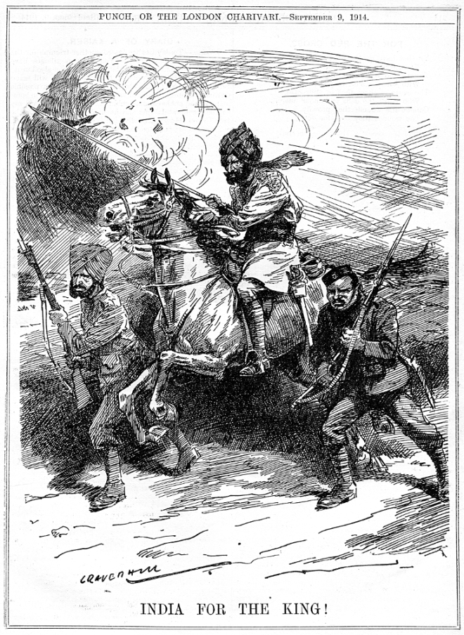 India for The King! Punch, September 9, 1914