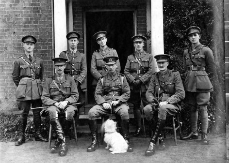 Correspondence with his men's families after their death meant a great deal to Captain John Hammond, seated furthest right