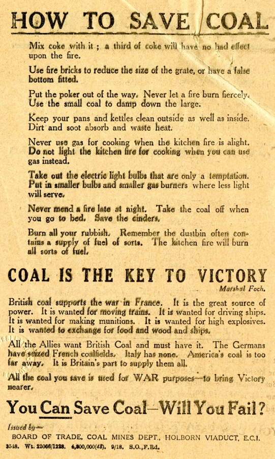coal is the key to victory