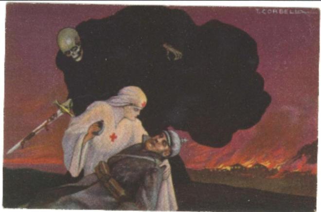 Propaganda postcard. From the Norfolk Heritage Centre.