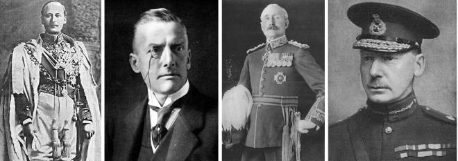 Lord Hardinge; Austen Chamberlain; General Nixon; General Townshend