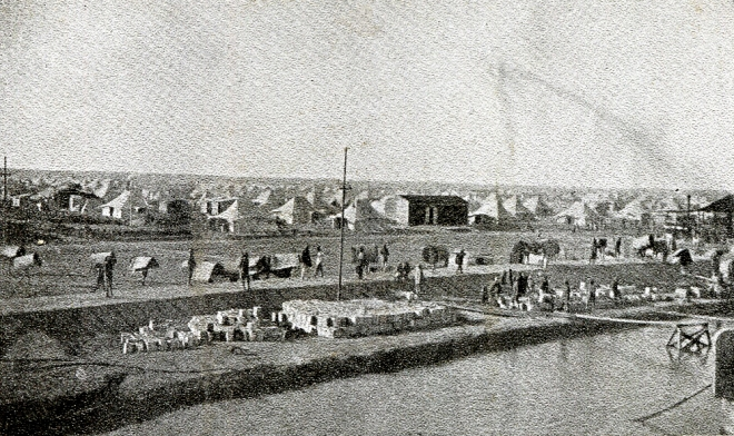 The British Camp at Sheikh Saad on the Tigris