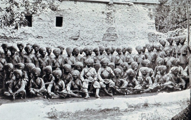 The 14th Sikhs - the Ferozepore Sikhs - at Chitral www.britishbattles.com/north-west-frontier-india/chitral/1-14thSikhs-1000.jpg