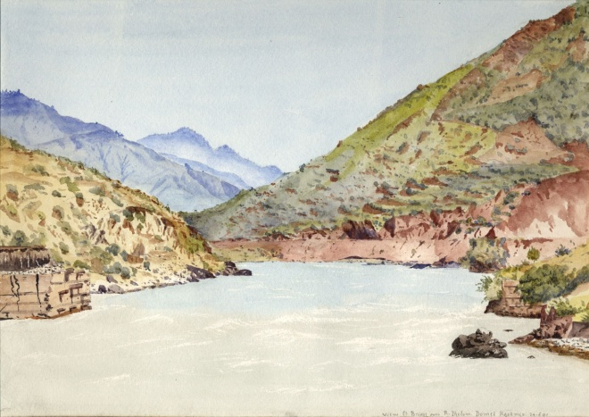 The Jhelum River at Domel, near Muzzafarabad, Kashmir, 1891