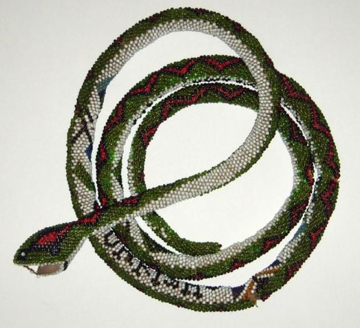 Beaded Snake made by Turkish prisoner of War