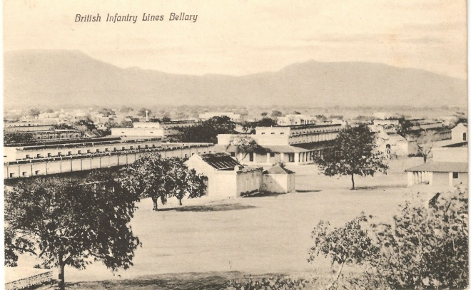 British Infantry Lines, Bellary, 1920s