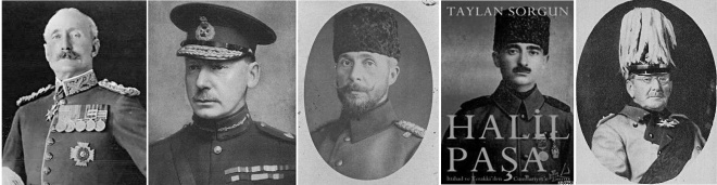 The Military Commanders at the Battle of Ctesiphon Lieutenant-General Sir John Nixon : Major-General Charles Townshend : Colonel Nureddin Bey : Major-General Khalil Pasha : Field-Marshal Colmar Freiherr von der Goltz