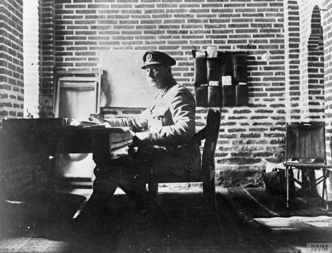 General Townshend at his desk at Kut-al-Amara © Imperial War Museum (Q 70247)