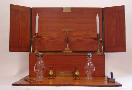 Communion set owned by Reverend L E Baumer, chaplain to the 8th Norfolks