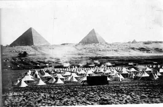 Mena Camp, in front of the Pyramids. The 1/4th and 1/5th spent time here during February 1916