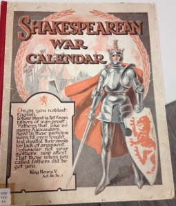 Shakespearean War Calendar by Rev. Fredk. Askew