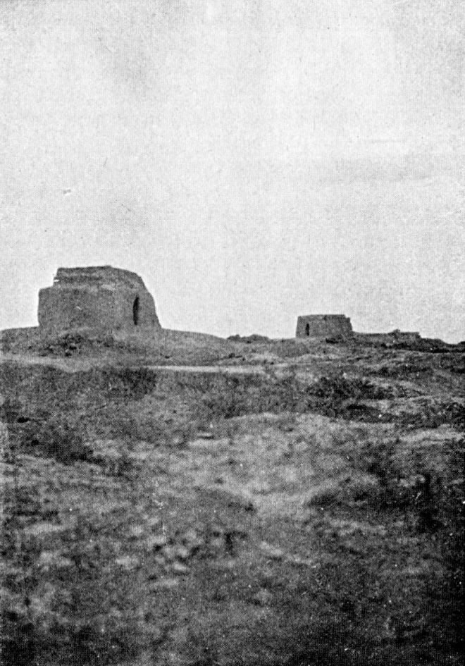 The Brick Kilns at Kut Honeycombed with Dug outs, Gun pits and Trenches E.O. Mousley, The Secrets of a Kuttite, 1922