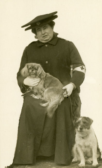 Margaret was a member of the Boileau family, baronets, of Tacolneston Hall. Margaret Lucy Augusta Boileau graduated from London University, with a Bachelor of Medicine and Bachelor of Surgery. She is thought to be pictured here sometime during the First World War.