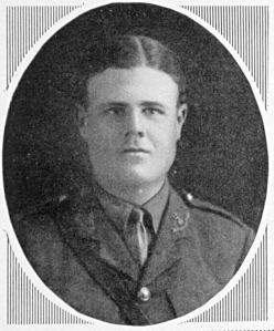 Lieutenant Arthur Richard Russel, 2nd Battalion Norfolk Regiment, who died on Christmas Day, 1915, and who is buried at Kut War Cemetery.