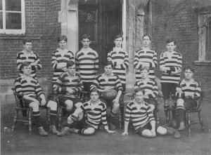 George Fenchelle  - who is one of the OGs who will be remembered on 1 July - as captain of the 1913 rugby team.