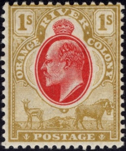 Orange River Colony, postage stamp of King Edward VII