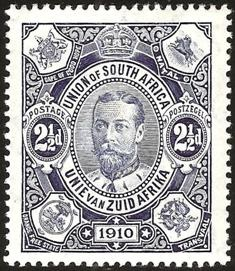 Postage Stamp commemorating the Union of South Africa, 1910