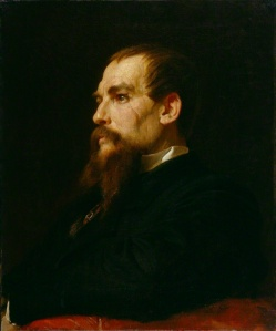 Richard Burton, KCMG, FRGS by Frederic Leighton, Baron Leighton 1872-75 © National Portrait Gallery, London