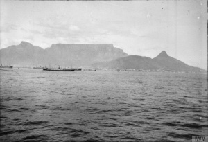 Table Mountain shown from across Table Bay, Cape Town Second Boer War 1899-1902  © Imperial War Museum (Q 71989)