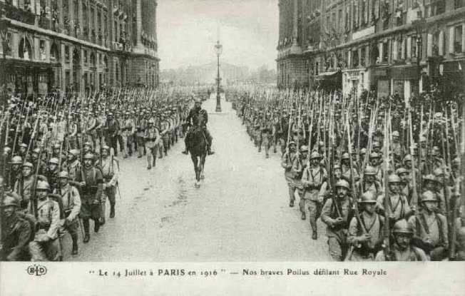 Bastille Day, Paris, 1916 With thanks to markspostcards.wordpress.com/tag/bastille-day/