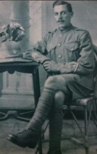 Private 2063 George Leonard Bindley, who served in the 1/4th Battalion Norfolk Regiment in the Great War.