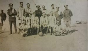 1/4th Battalion Norfolk Regiment seen after a football match.