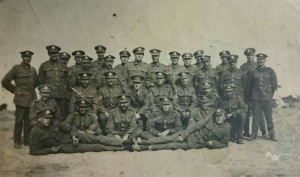 A platoon of 1/4th Battalion Norfolk Regiment in Egypt.