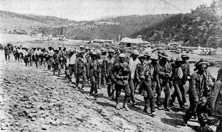 British and Indian troops being led away by their Turkish captors following the fall of Kut www.rggj.net/Diary/