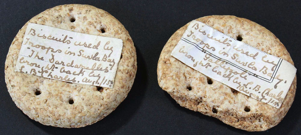 biscuits brought back as a souvenir from suvla bay during the dardanelles campaign 1915