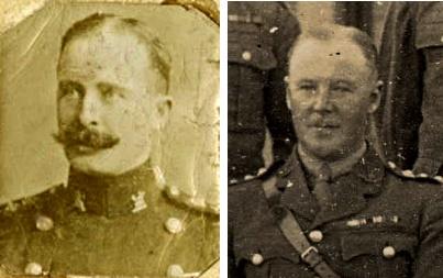 Lieutenant-Colonel Francis Cecil Lodge (when a captain) c.1900  and Captain Alfred Joseph Shakeshaft c.1925 Royal Norfolk Regimental Museum