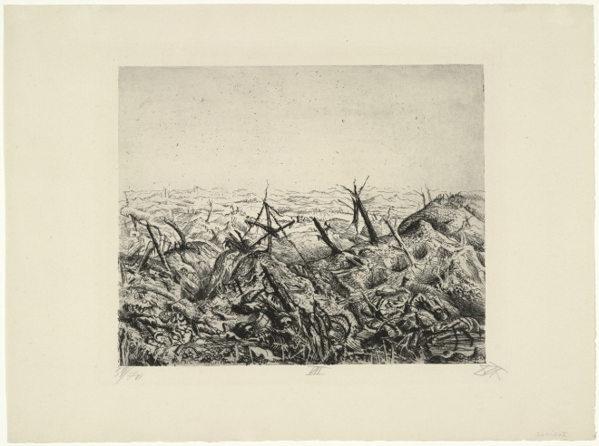 Otto Dix Bei Langemarck (Februar 1918), 1924 etching and drypoint MoMA