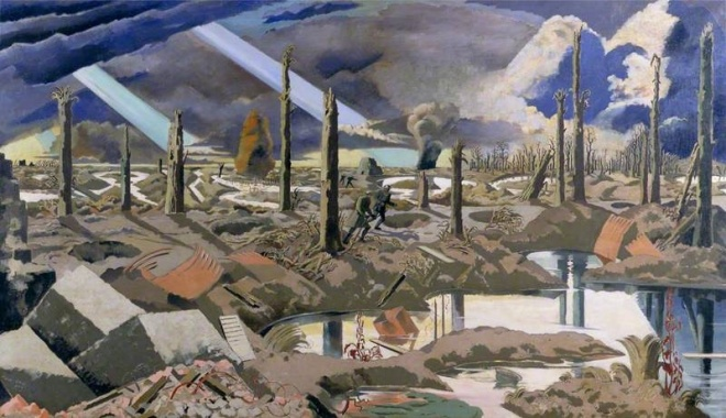 Paul Nash, The Menin Road, 1918-19 oil on canvas Imperial War Museum(c) Tate; Supplied by The Public Catalogue Foundation